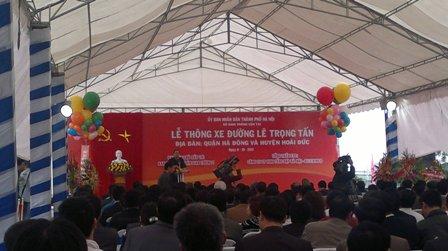Lễ thông xe đường Lê Trọng Tấn - Quận Hà Đông